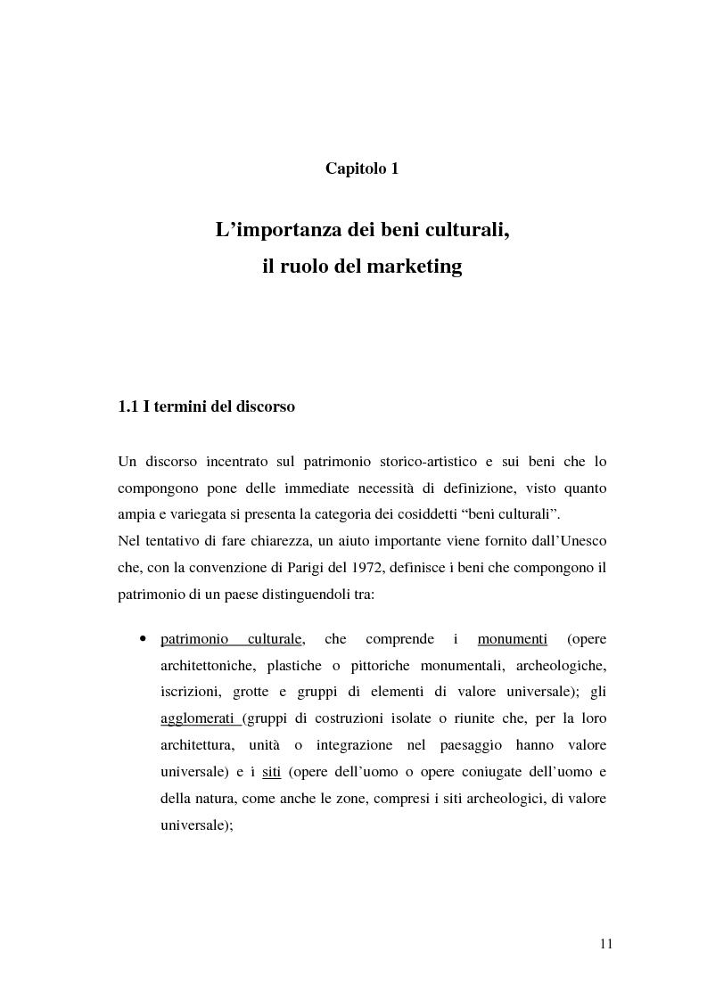Anteprima della tesi: Il marketing dei beni culturali tra territorio e nuove tecnologie, Pagina 7