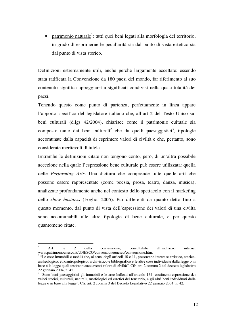Anteprima della tesi: Il marketing dei beni culturali tra territorio e nuove tecnologie, Pagina 8