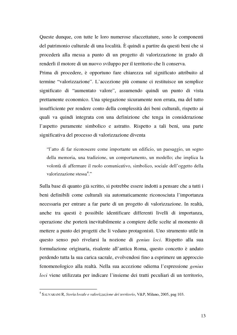 Anteprima della tesi: Il marketing dei beni culturali tra territorio e nuove tecnologie, Pagina 9