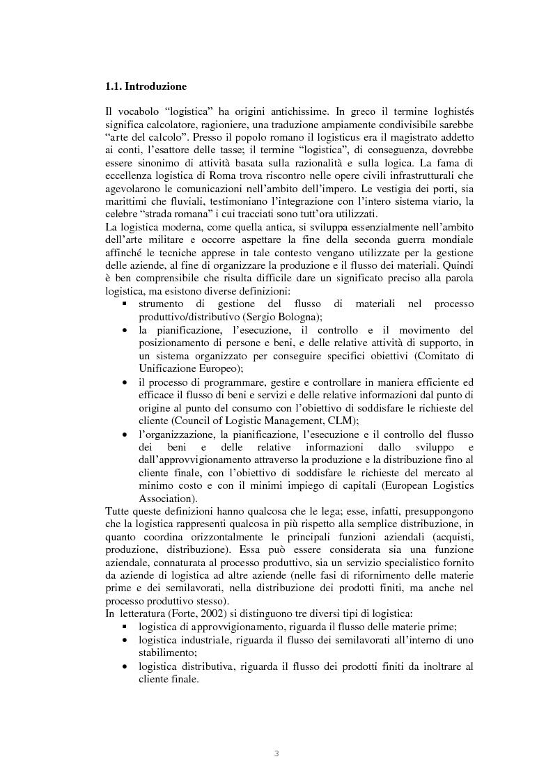 Anteprima della tesi: Il nodo logistico di Gioia Tauro a servizio della Sicilia. Potenzialità e criticità per il settore agrumicolo., Pagina 4