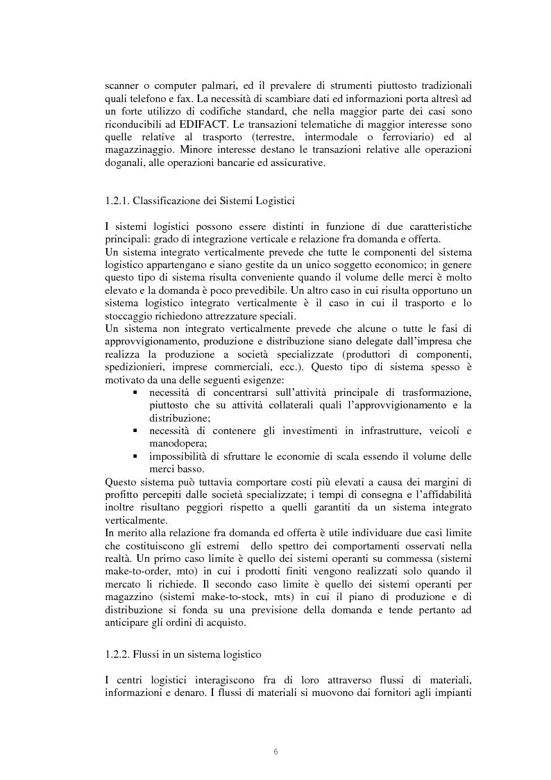 Anteprima della tesi: Il nodo logistico di Gioia Tauro a servizio della Sicilia. Potenzialità e criticità per il settore agrumicolo., Pagina 7