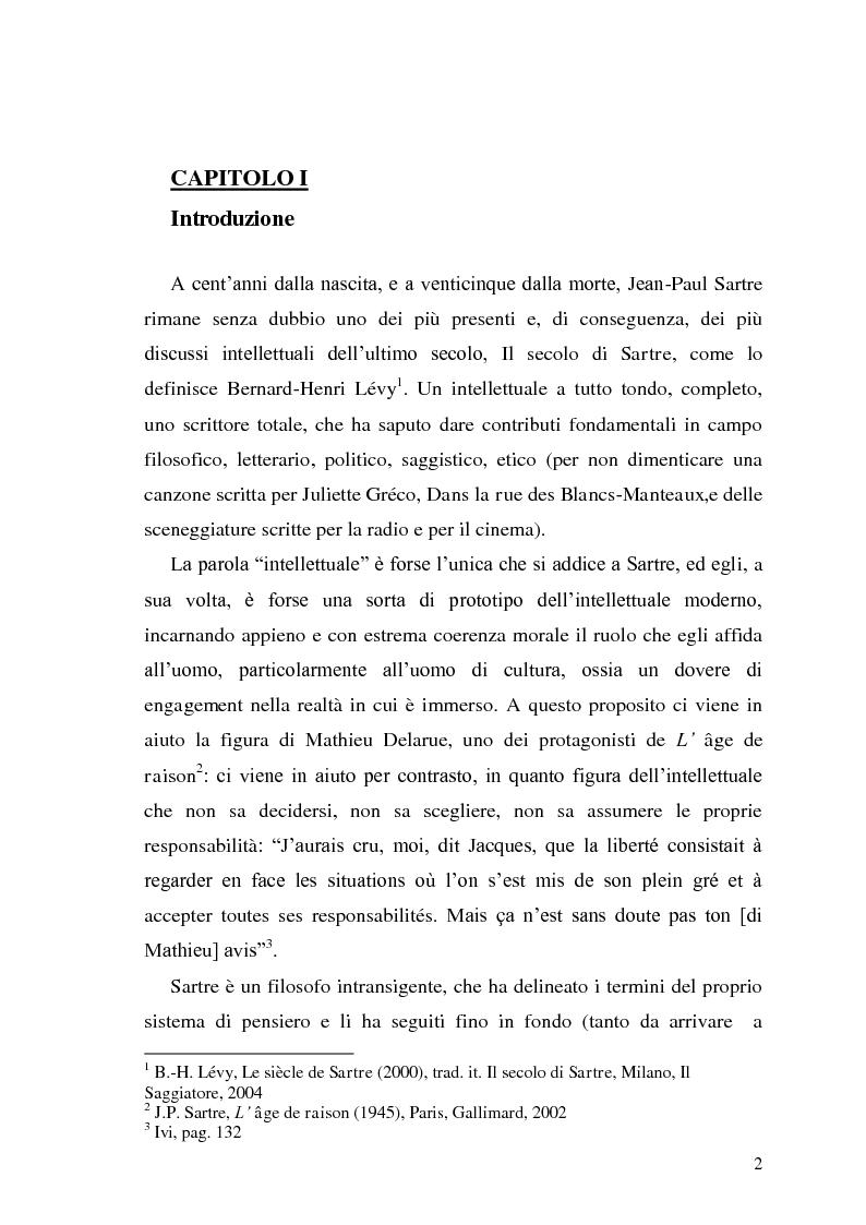 Anteprima della tesi: ''L'enfance d'un chef''. Per una lettura pedagogica di Jean-Paul Sartre, Pagina 2