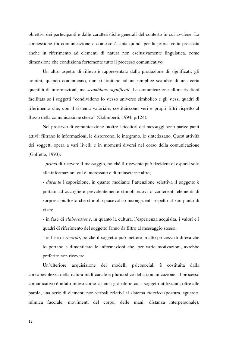 Anteprima della tesi: La comunicazione nelle imprese sociali: il progetto di una newsletter, Pagina 10