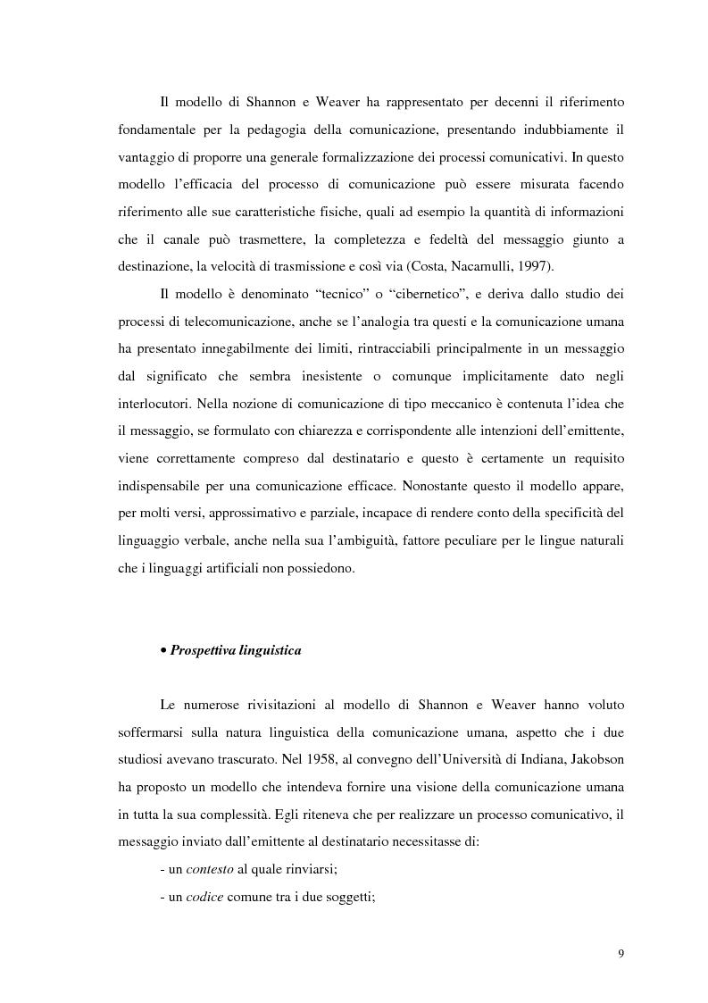 Anteprima della tesi: La comunicazione nelle imprese sociali: il progetto di una newsletter, Pagina 7
