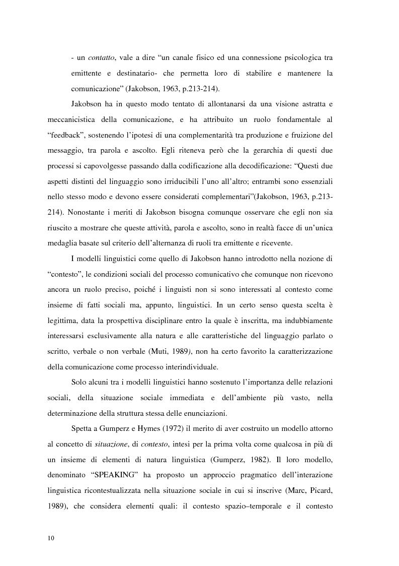 Anteprima della tesi: La comunicazione nelle imprese sociali: il progetto di una newsletter, Pagina 8
