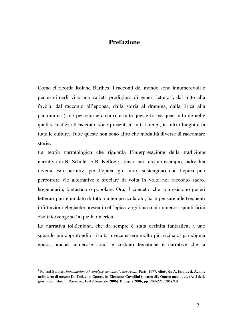 Anteprima della tesi: J.R.R. Tolkien e l'epica omerica, Pagina 2