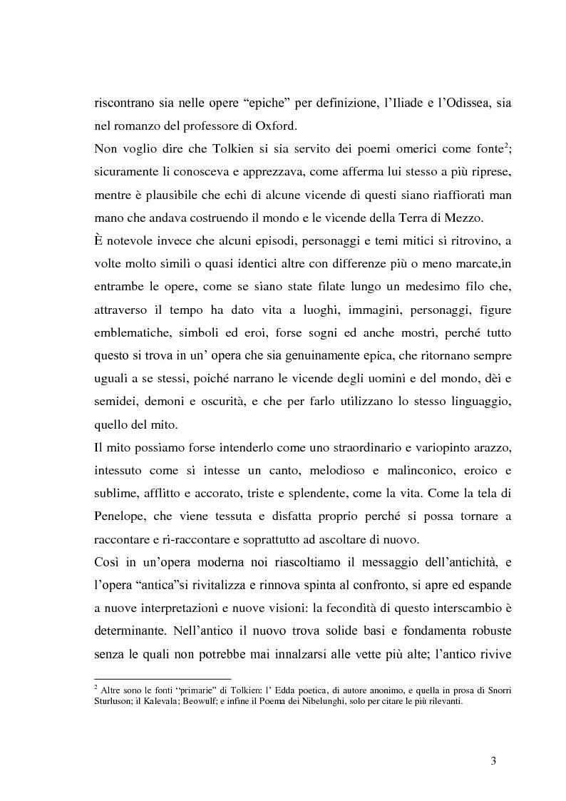 Anteprima della tesi: J.R.R. Tolkien e l'epica omerica, Pagina 3