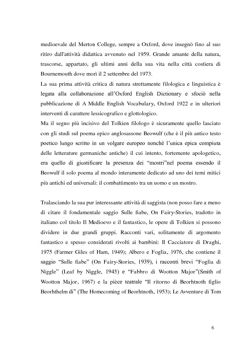 Anteprima della tesi: J.R.R. Tolkien e l'epica omerica, Pagina 6