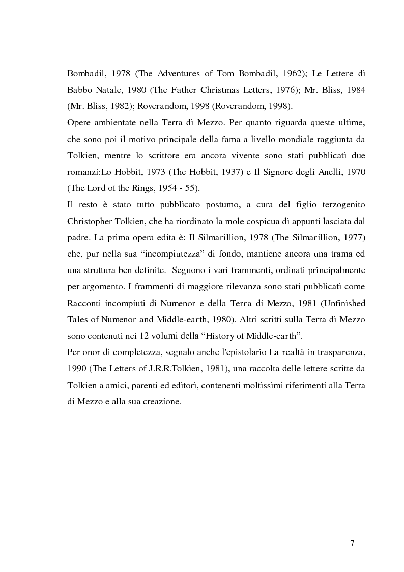 Anteprima della tesi: J.R.R. Tolkien e l'epica omerica, Pagina 7