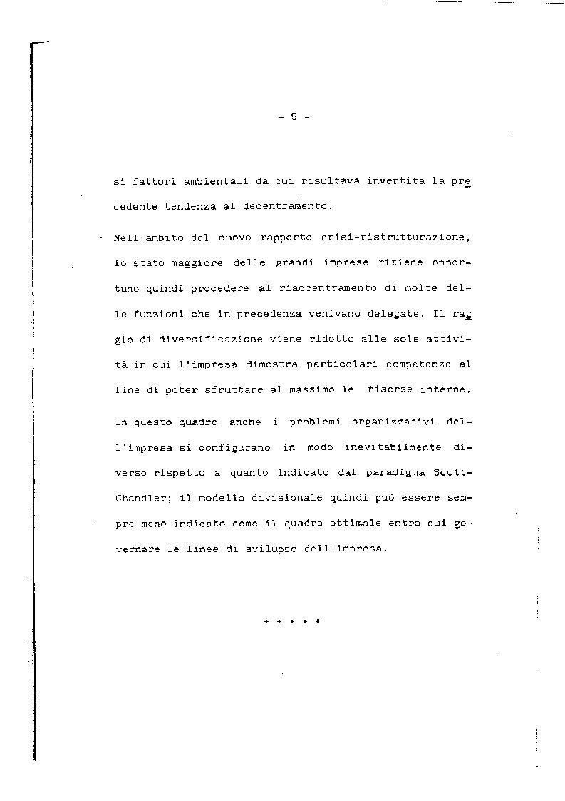 Anteprima della tesi: Problemi e prospettive del modello organizzativo divisionale, Pagina 6