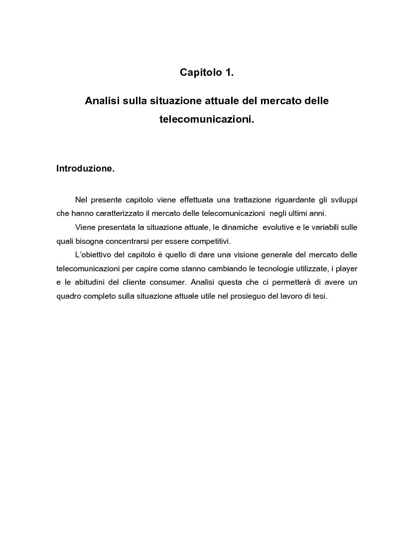 Anteprima della tesi: L'evoluzione dei canali di vendita nel settore delle telecomunicazioni mobili e concept sulle ferrovie del futuro., Pagina 2
