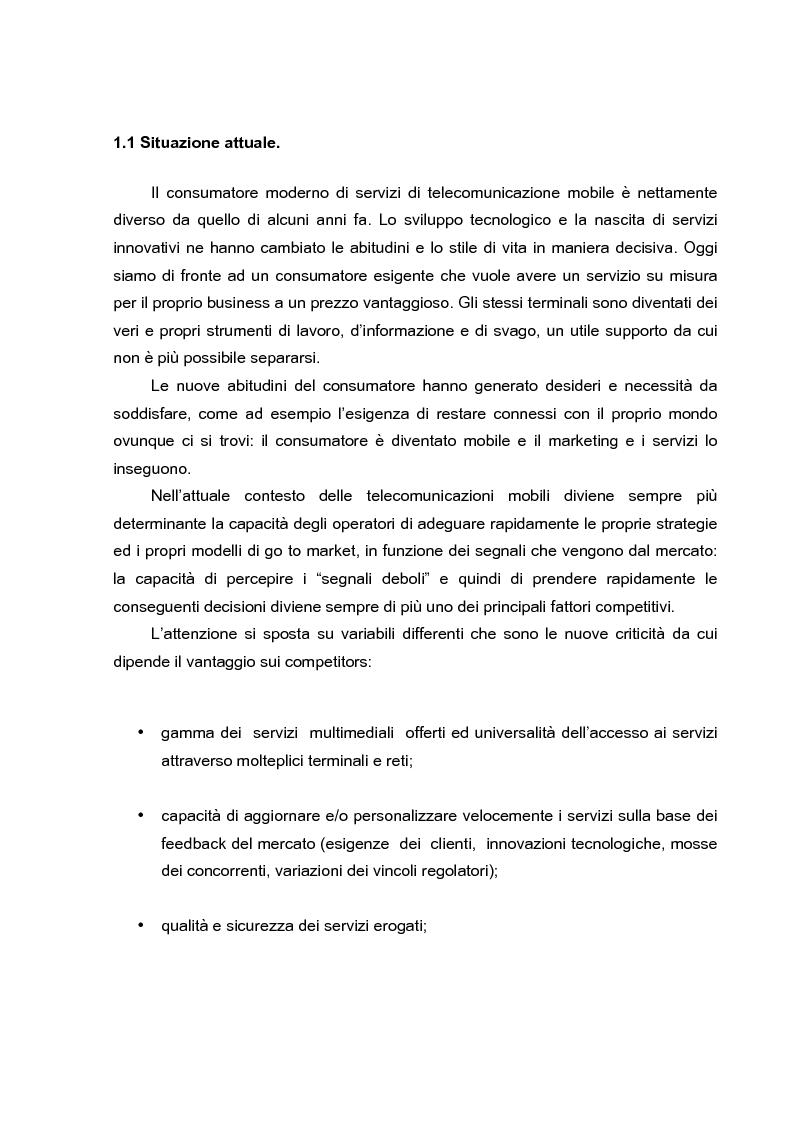 Anteprima della tesi: L'evoluzione dei canali di vendita nel settore delle telecomunicazioni mobili e concept sulle ferrovie del futuro., Pagina 3