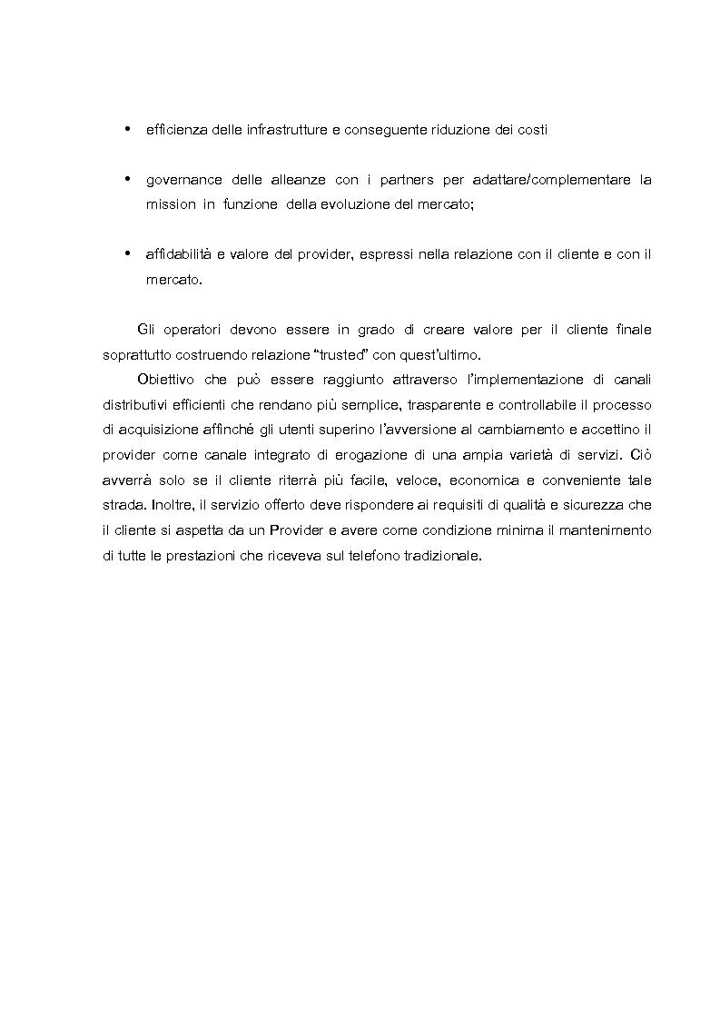 Anteprima della tesi: L'evoluzione dei canali di vendita nel settore delle telecomunicazioni mobili e concept sulle ferrovie del futuro., Pagina 4