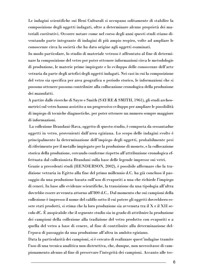 Anteprima della tesi: Studio di pesi in vetro di epoca fatimide mediante microspettroscopia di fluorescenza di raggi X, Pagina 2