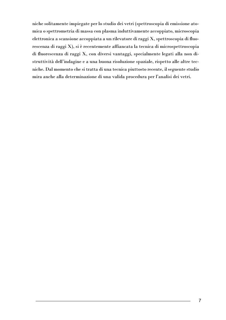 Anteprima della tesi: Studio di pesi in vetro di epoca fatimide mediante microspettroscopia di fluorescenza di raggi X, Pagina 3