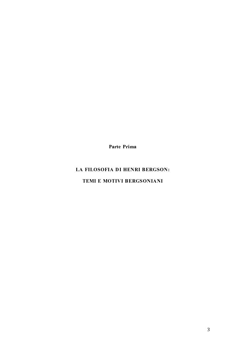 Anteprima della tesi: Influenze di Henri Bergson nella psichiatria di Eugène Minkowski, Pagina 4