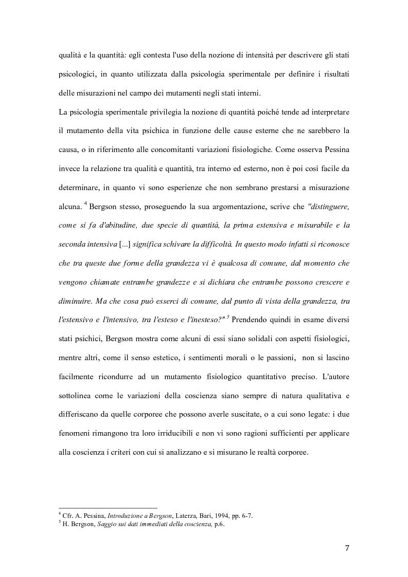 Anteprima della tesi: Influenze di Henri Bergson nella psichiatria di Eugène Minkowski, Pagina 8