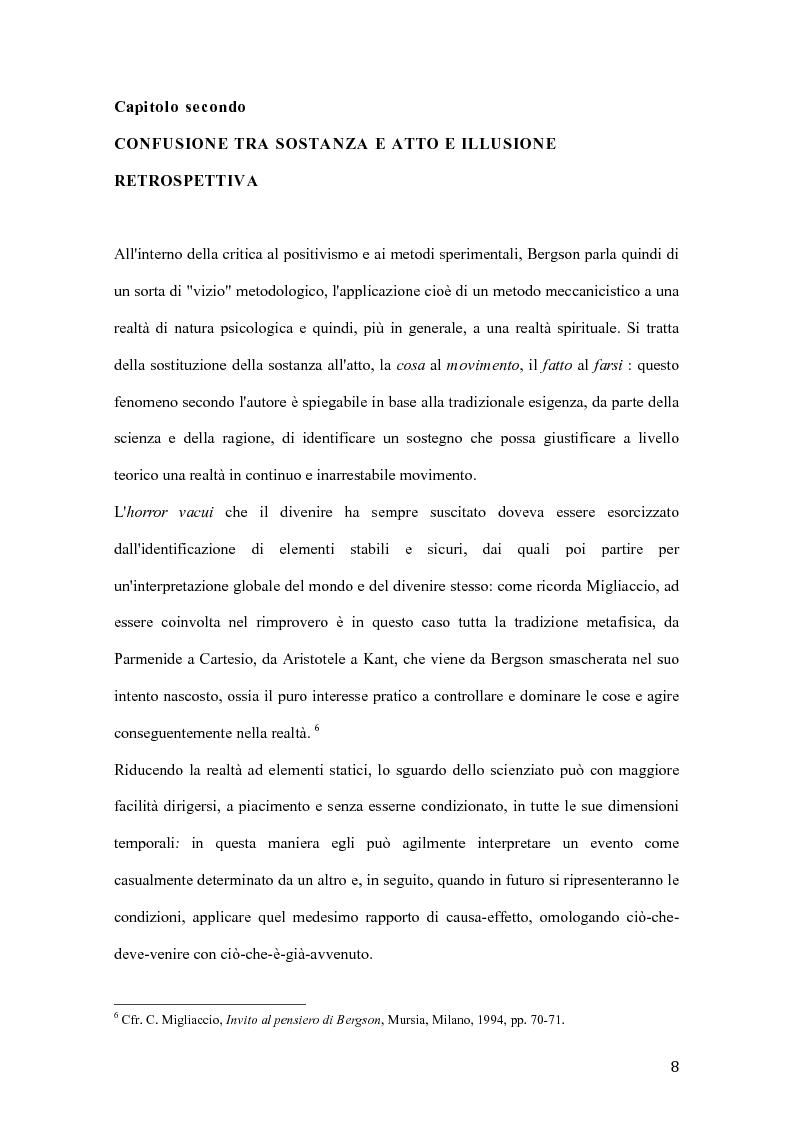 Anteprima della tesi: Influenze di Henri Bergson nella psichiatria di Eugène Minkowski, Pagina 9