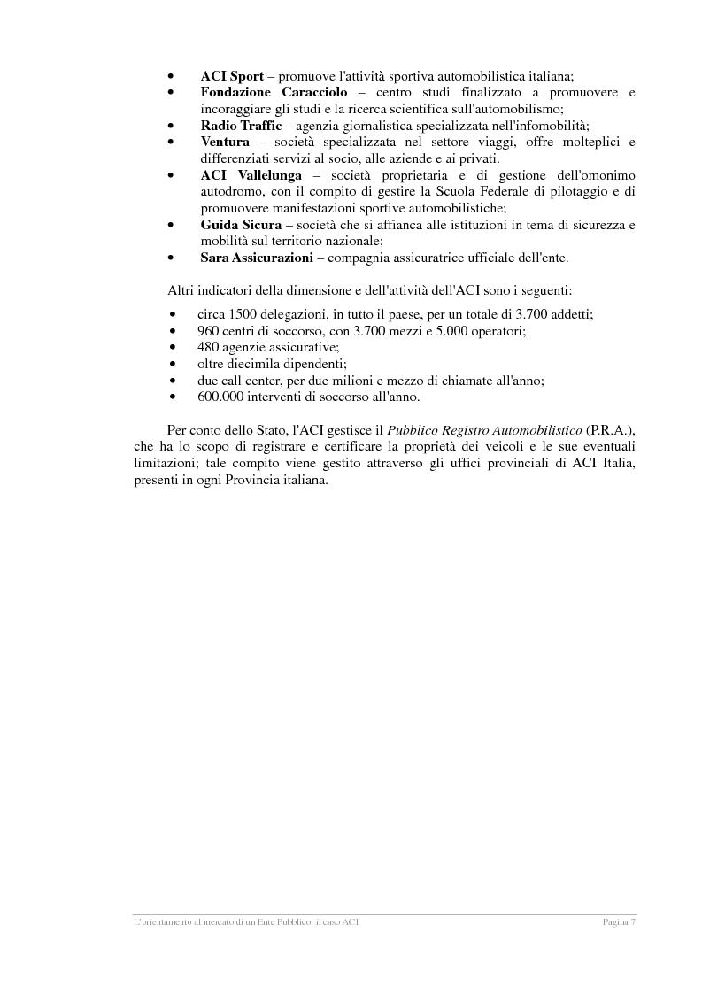 Anteprima della tesi: L'orientamento al mercato di un Ente Pubblico: il caso ACI, Pagina 6