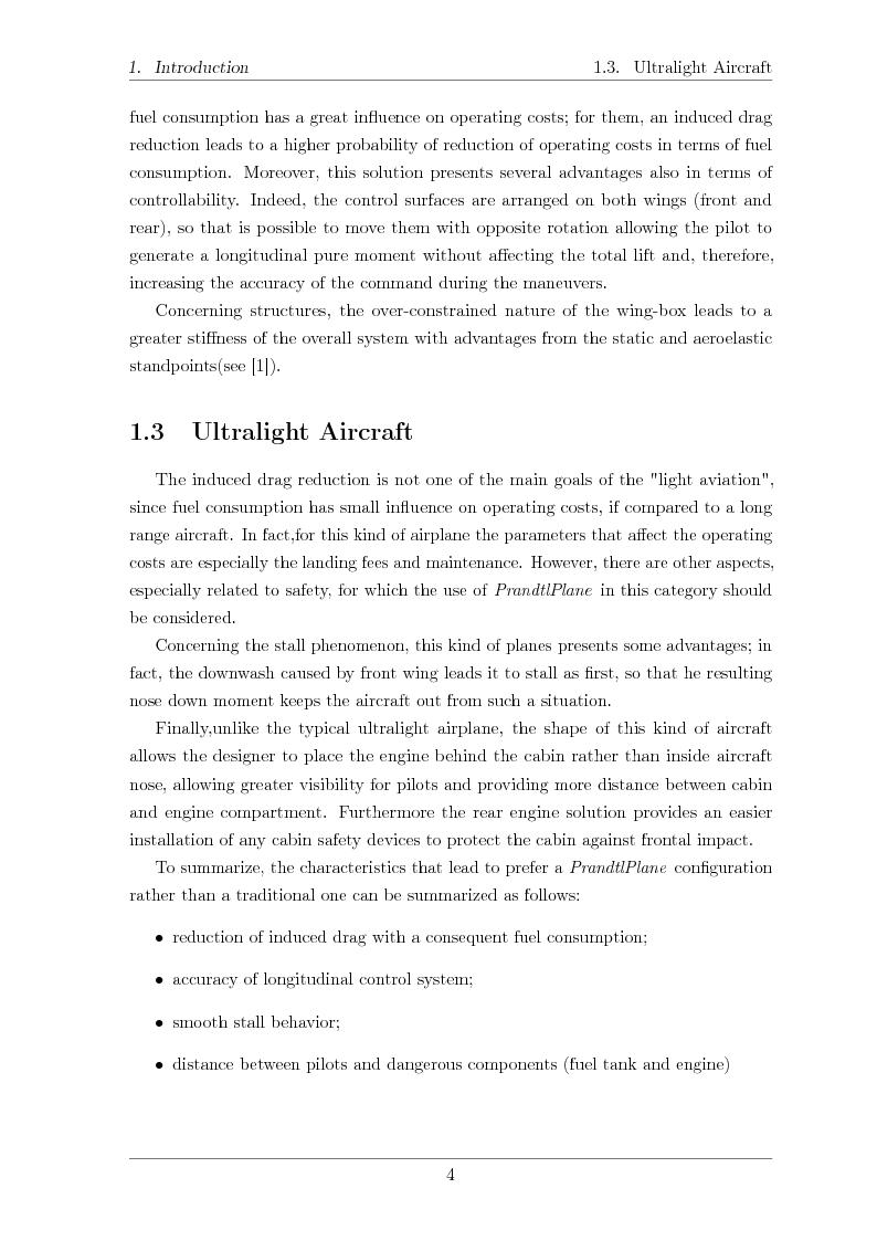 Anteprima della tesi: Structural design of a ULM PrandtlPlane wing system, Pagina 5