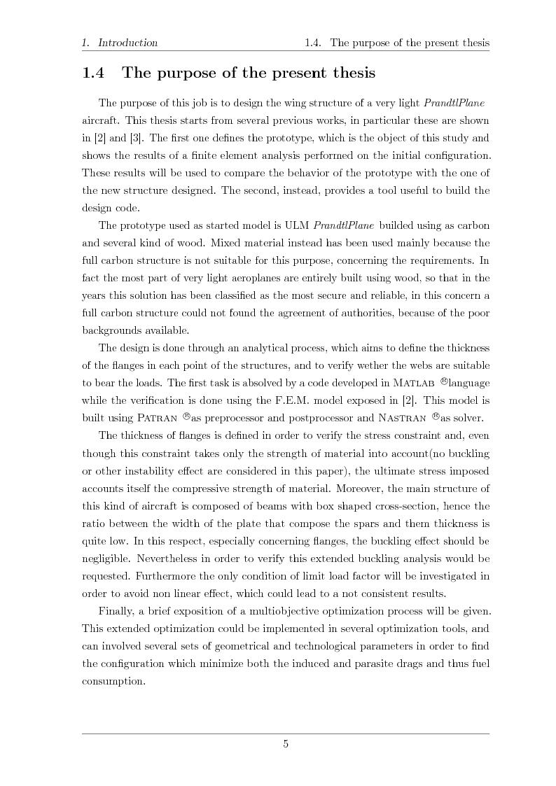 Anteprima della tesi: Structural design of a ULM PrandtlPlane wing system, Pagina 6