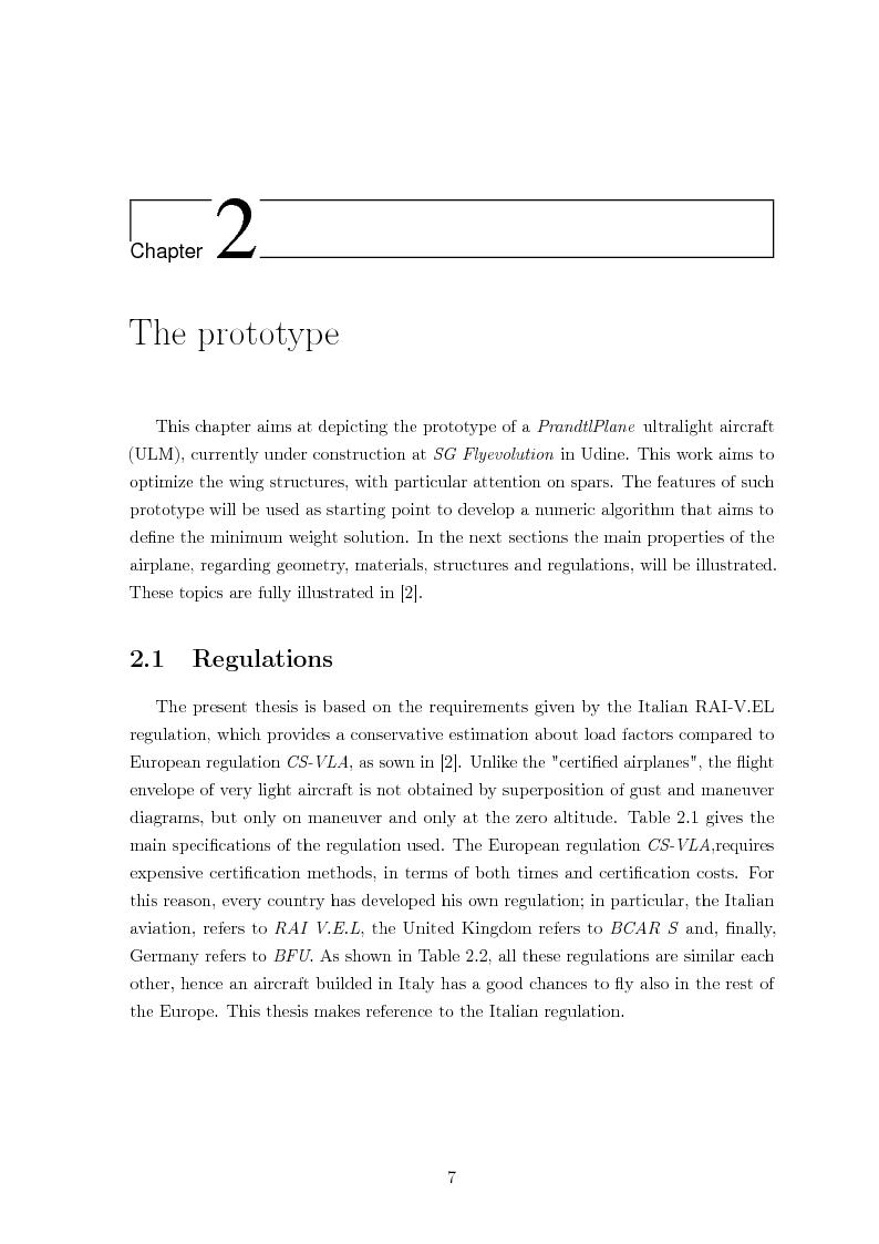 Anteprima della tesi: Structural design of a ULM PrandtlPlane wing system, Pagina 8