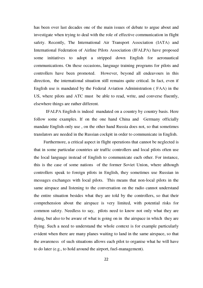 Anteprima della tesi: AIRSPEAK - The Importance of Effective Communication in Flight Safety, Pagina 12