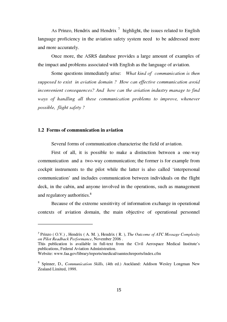 Anteprima della tesi: AIRSPEAK - The Importance of Effective Communication in Flight Safety, Pagina 5