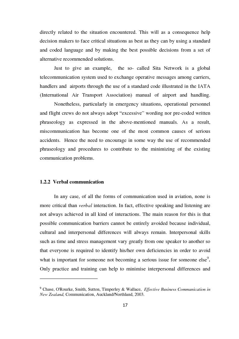 Anteprima della tesi: AIRSPEAK - The Importance of Effective Communication in Flight Safety, Pagina 7