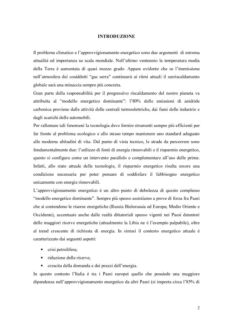 Anteprima della tesi: Progettazione di un sistema di acquisizione dati e messa a punto di un software per il monitoraggio dei consumi energetici XXXXXXX S.P.A., Pagina 2