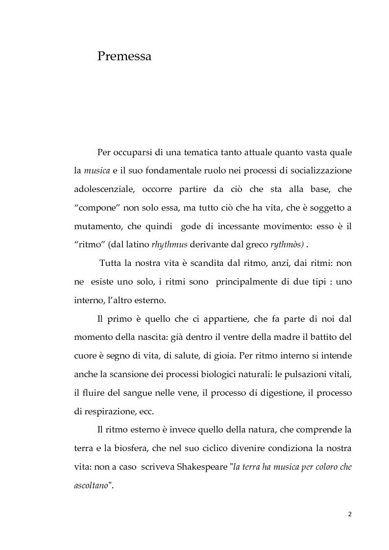 Anteprima della tesi: Musica e costruzione dell'identità negli adolescenti, Pagina 2