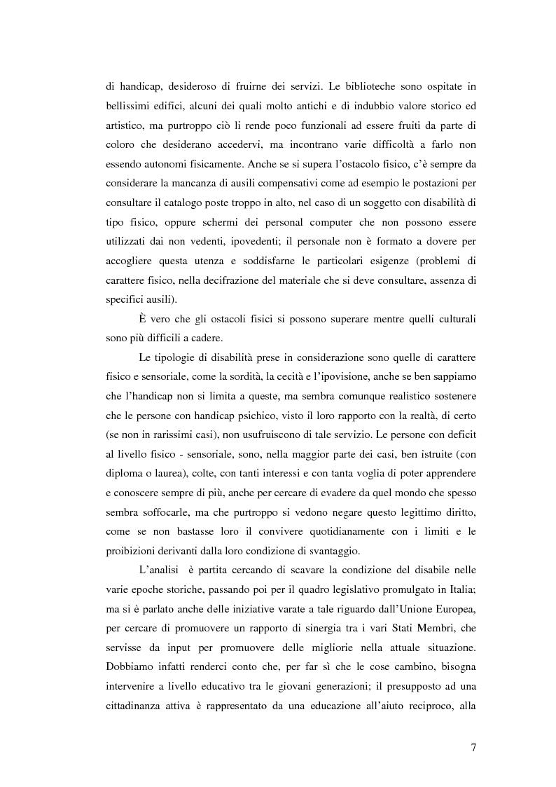 Anteprima della tesi: Biblioteca senza barriere: accessibilità per il disabile, Pagina 3