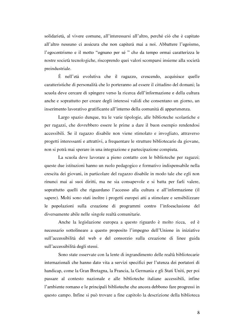 Anteprima della tesi: Biblioteca senza barriere: accessibilità per il disabile, Pagina 4