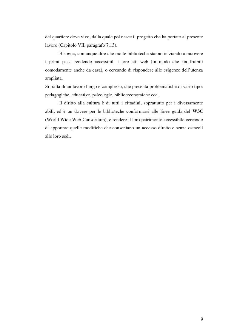 Anteprima della tesi: Biblioteca senza barriere: accessibilità per il disabile, Pagina 5