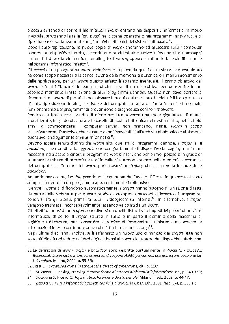 Anteprima della tesi: Cybercrime. Analisi empirica e normativa dei reati informatici. La cooperazione internazionale., Pagina 12