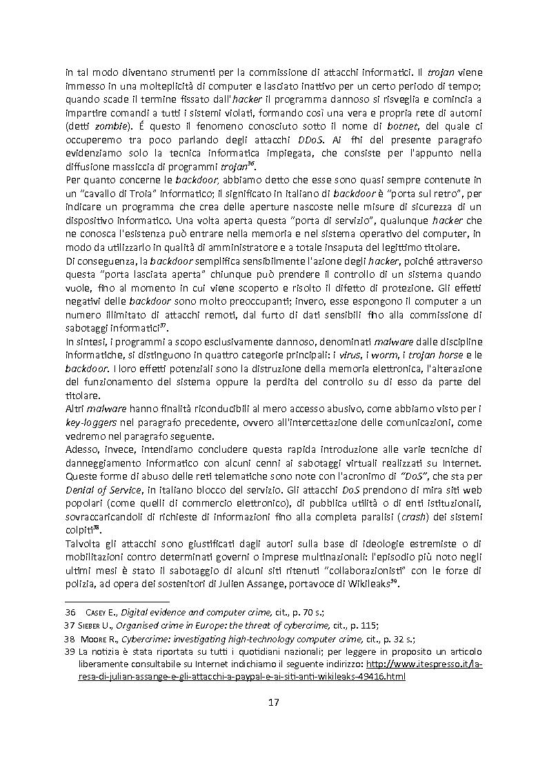Anteprima della tesi: Cybercrime. Analisi empirica e normativa dei reati informatici. La cooperazione internazionale., Pagina 13