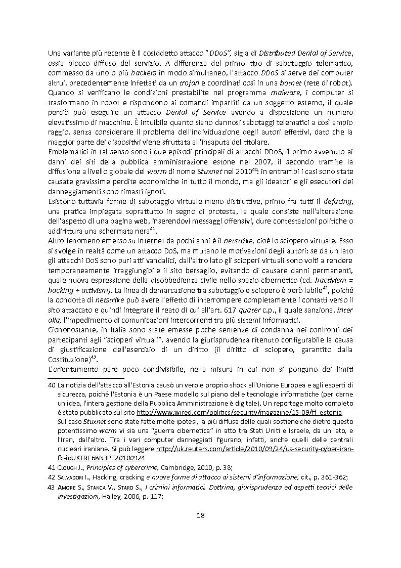 Anteprima della tesi: Cybercrime. Analisi empirica e normativa dei reati informatici. La cooperazione internazionale., Pagina 14