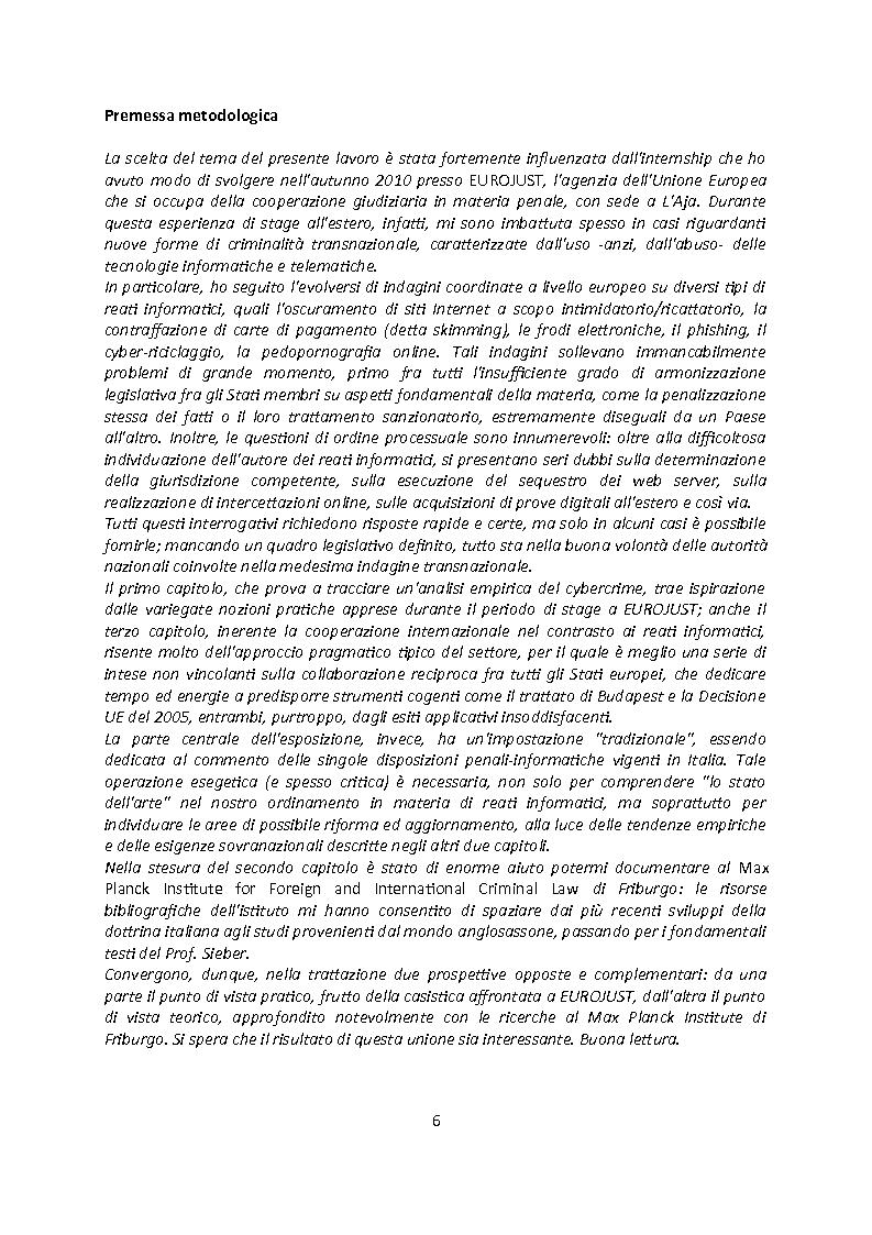 Anteprima della tesi: Cybercrime. Analisi empirica e normativa dei reati informatici. La cooperazione internazionale., Pagina 2