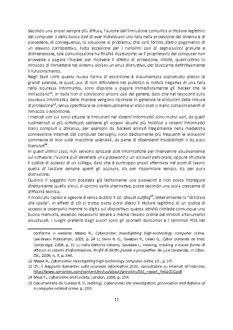 Anteprima della tesi: Cybercrime. Analisi empirica e normativa dei reati informatici. La cooperazione internazionale., Pagina 7