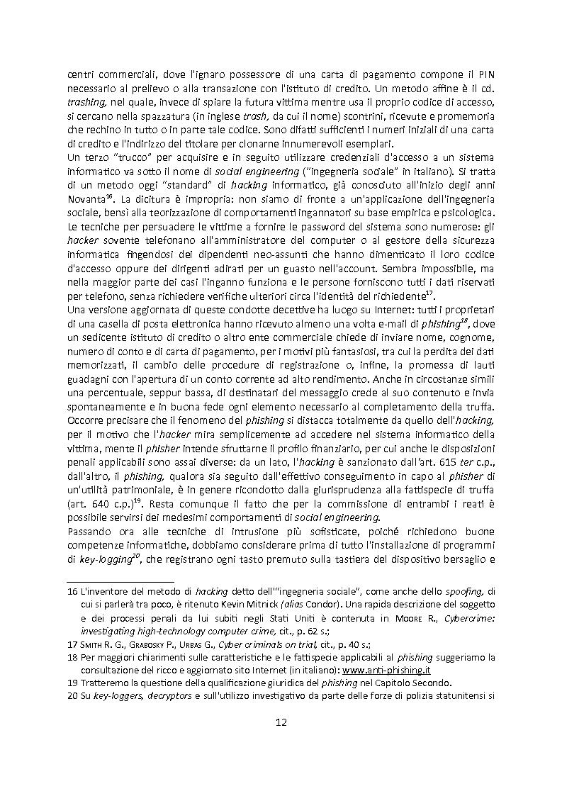 Anteprima della tesi: Cybercrime. Analisi empirica e normativa dei reati informatici. La cooperazione internazionale., Pagina 8