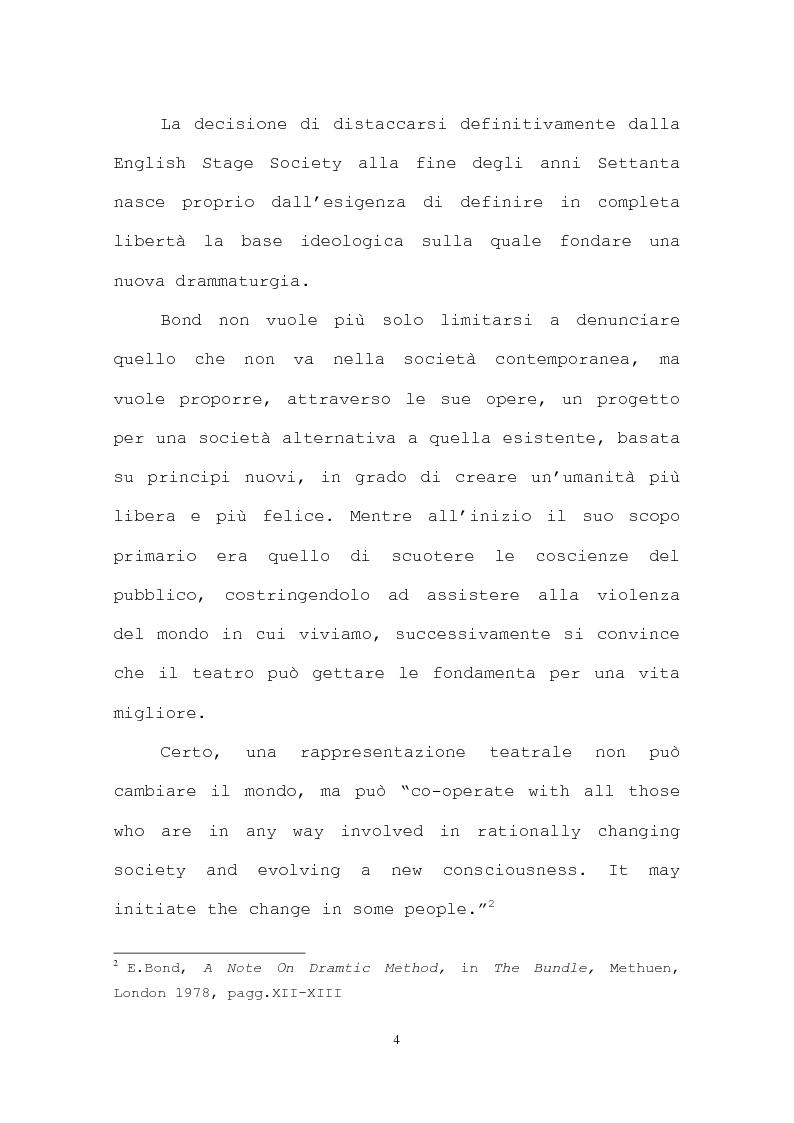 Anteprima della tesi: La più recente produzione teatrale di Edward Bond, Pagina 4