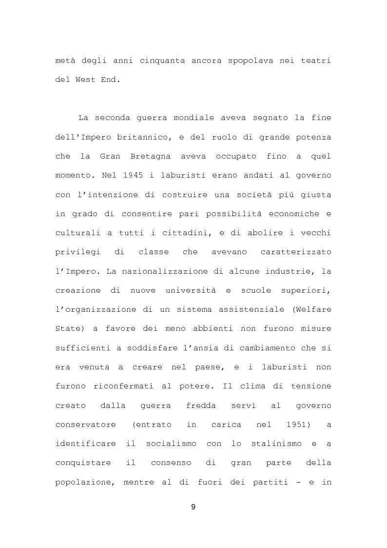 Anteprima della tesi: La più recente produzione teatrale di Edward Bond, Pagina 9