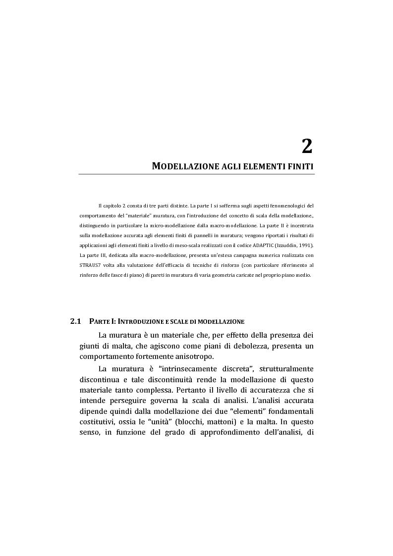 Anteprima della tesi: Analisi non lineare di pareti murarie sotto azioni orizzontali: modellazione a telaio Equivalente, Pagina 16