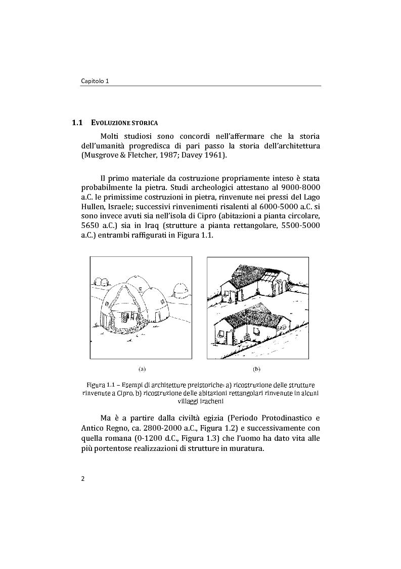 Anteprima della tesi: Analisi non lineare di pareti murarie sotto azioni orizzontali: modellazione a telaio Equivalente, Pagina 3