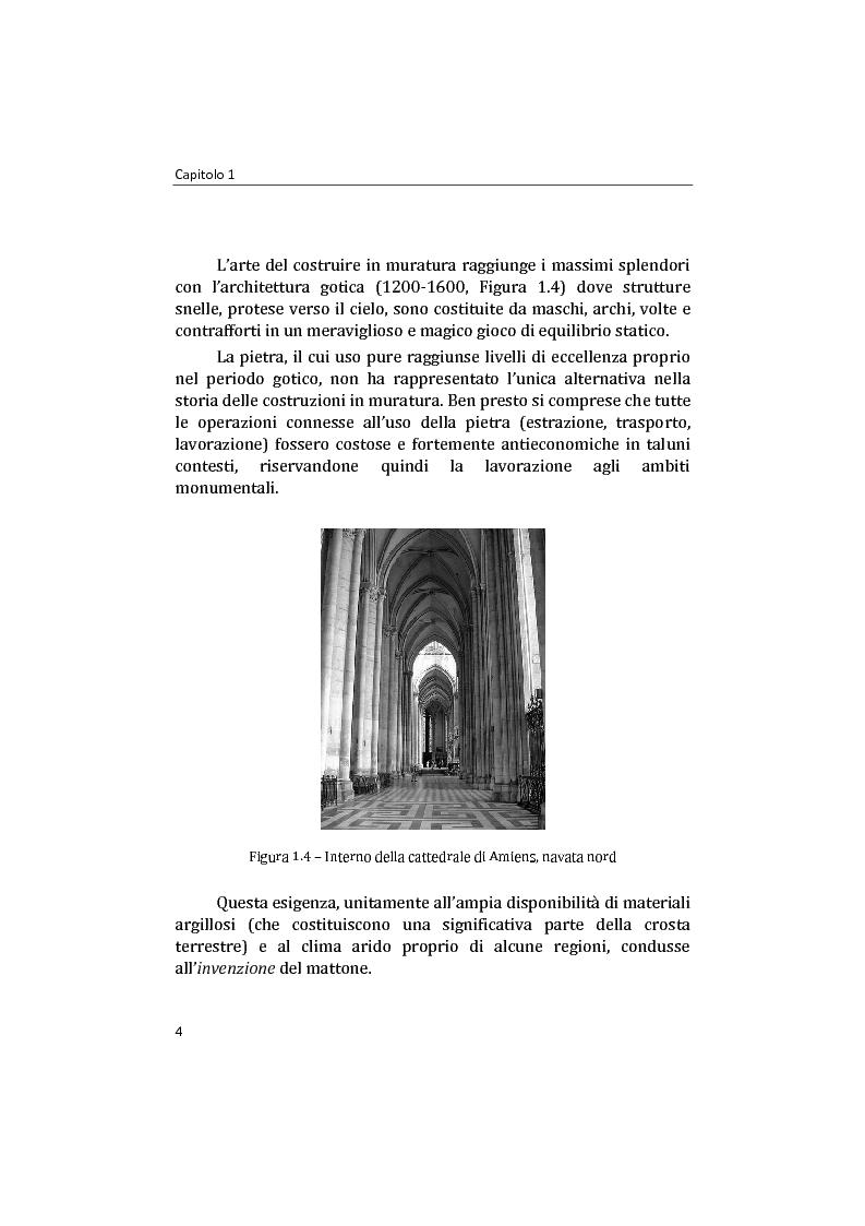 Anteprima della tesi: Analisi non lineare di pareti murarie sotto azioni orizzontali: modellazione a telaio Equivalente, Pagina 5