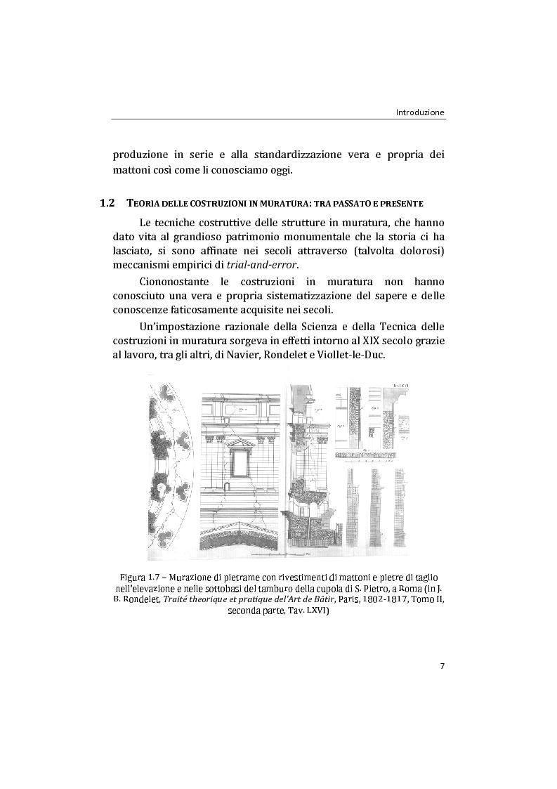 Anteprima della tesi: Analisi non lineare di pareti murarie sotto azioni orizzontali: modellazione a telaio Equivalente, Pagina 8