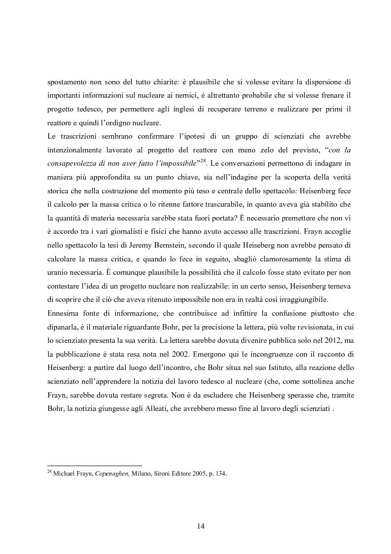Anteprima della tesi: ''Copenhagen''di Michael Frayn: scienza, storiografia e linguaggi settoriali a teatro, Pagina 13