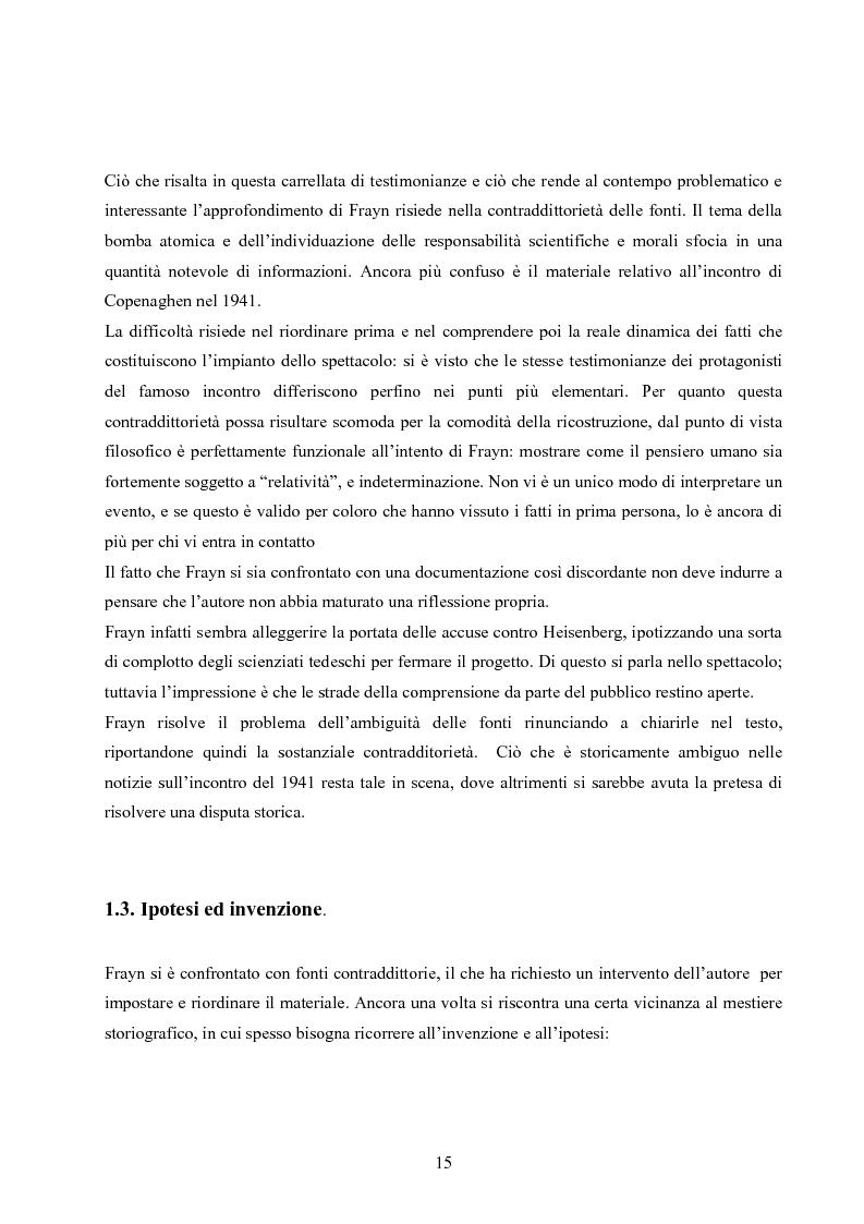 Anteprima della tesi: ''Copenhagen''di Michael Frayn: scienza, storiografia e linguaggi settoriali a teatro, Pagina 14