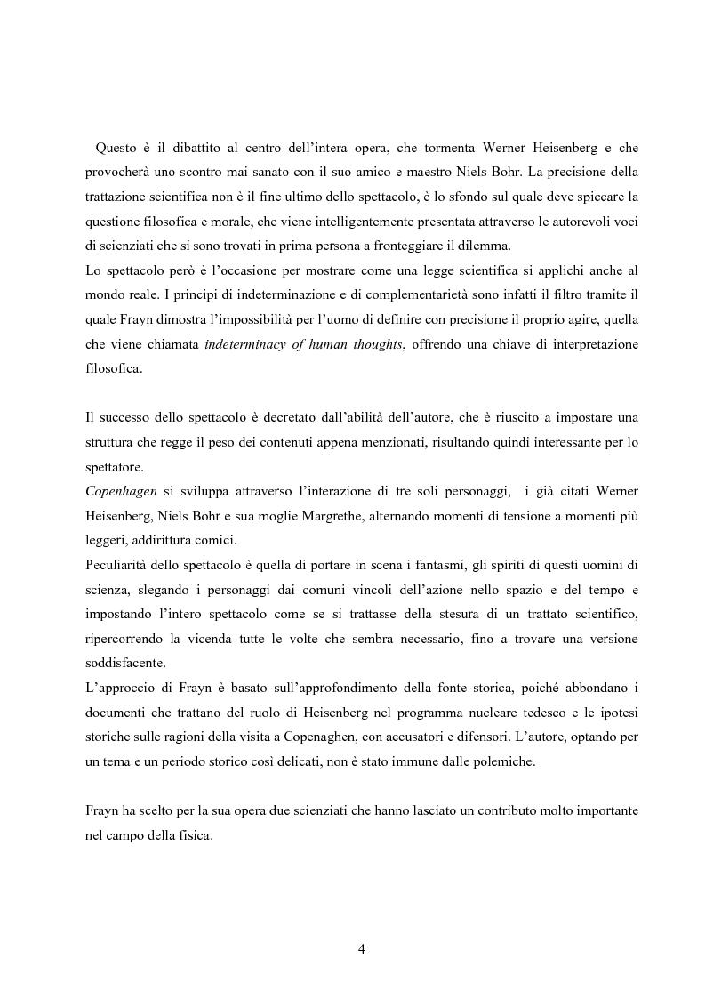 Anteprima della tesi: ''Copenhagen''di Michael Frayn: scienza, storiografia e linguaggi settoriali a teatro, Pagina 3