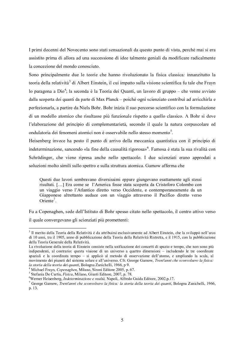 Anteprima della tesi: ''Copenhagen''di Michael Frayn: scienza, storiografia e linguaggi settoriali a teatro, Pagina 4